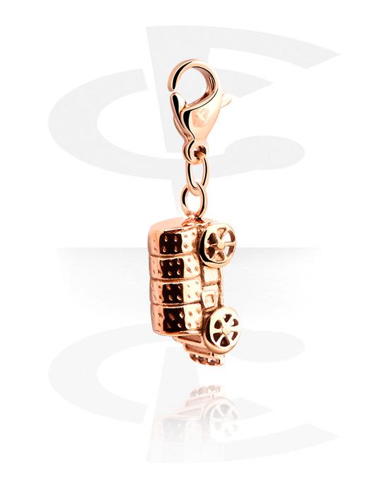 Ciondoli, Ciondolo per bracciale, Acciaio chirurgico 316L placcato in oro rosa