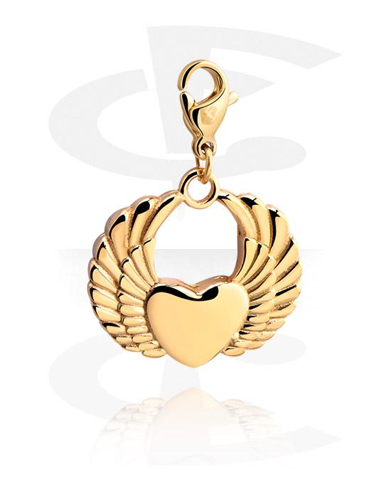 Armbånd med amuletter, Bead for Bead Bracelets, Gold Plated Surgical Steel 316L