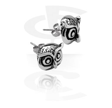 Ear Studs with Owl