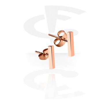 Örhängen, Öronstickor, Roséförgyllt kirurgiskt stål 316L