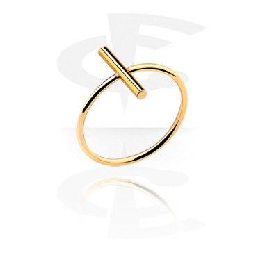 Bagues, Ring, Gold Plated Surgical Steel 316L