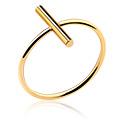 Pierścionki i obrączki, Ring, Gold Plated Surgical Steel 316L