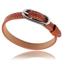 Ploché korálky, Bracelet for Flat Beads, Imitation Leather, Surgical Steel 316L