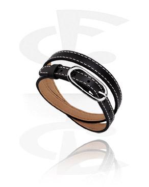 Beads Plats, Bracelet pour perles plates, Simili-cuir, Acier chirurgical 316L