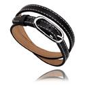 Flatbeads, Bracelet for Flat Beads, Kunstleder, Chirurgisch staal 316L