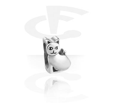 Flatbead for Flatbead Bracelets with Cat Design