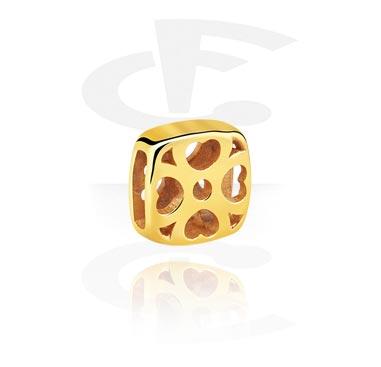 Beads Plats, Flat bead pour bracelet flat bead, Acier chirurgical 316L