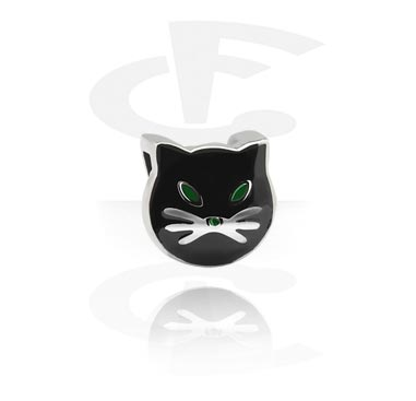 Flatbead for Flatbead Bracelets med kattdesign
