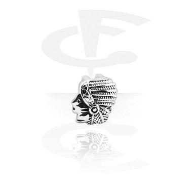 Koraliki płaskie, Flat-Bead for Flat-Bead Bracelets, Surgical Steel 316L