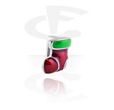 Cuentas Planas, Flat-Bead for Flat-Bead Bracelets con Winter Stocking, Acero quirúrgico 316L