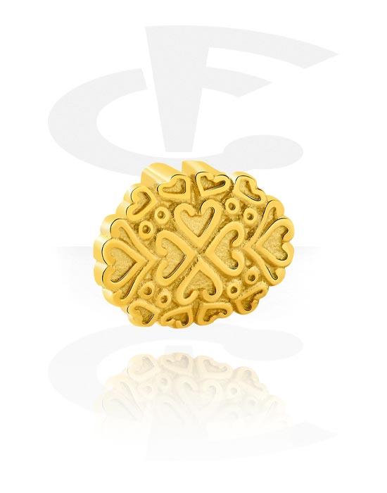 Ploché korálky, Flatbead for Flatbead Bracelets, Pozlacená chirurgická ocel 316L