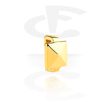 Cuentas Planas, Cuenta plana para pulseras planas, Acero quirúrgico 316L chapado en oro