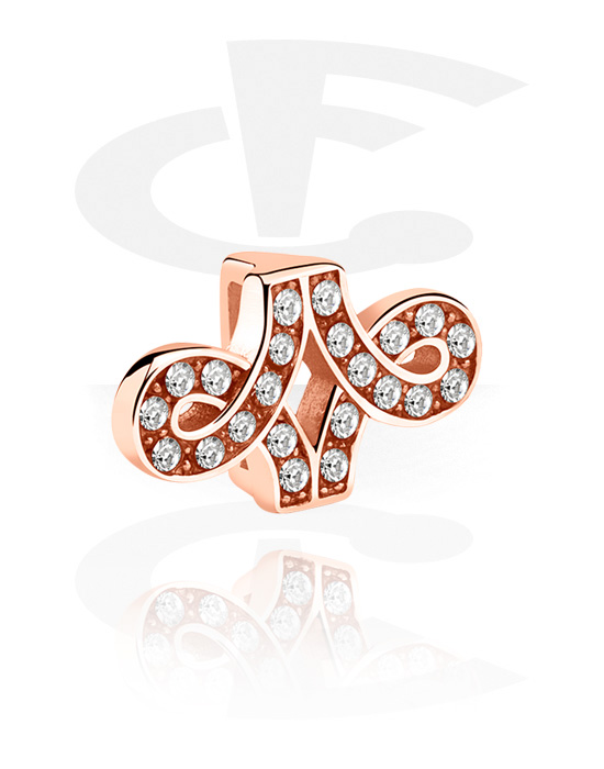 Koraliki płaskie, Flatbead for Flatbead Bracelets, Stal chirurgiczna powlekana różowym złotem 316L