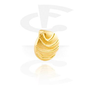 Flatbeads, Flatbead for Flatbead Bracelets, Gold Plated Steel