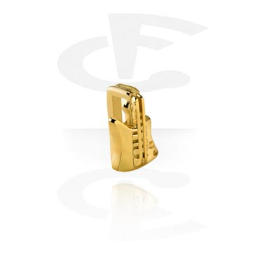 Flatbeads, Flatbead for Flatbead Bracelets, Gold Plated Surgical Steel 316L