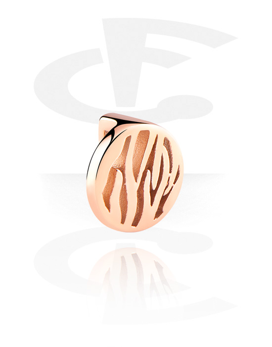 Flatbeads, Flatbead for Flatbead Bracelets, Rose Gold Plated Surgical Steel 316L