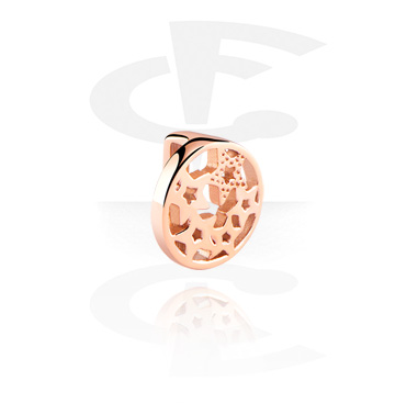 Flatbeads, Flatbead for Flatbead Bracelets, Rosegold Plated Surgical Steel 316L