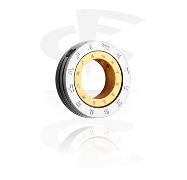 "Přívěsky, Pendant ""Zodiac"", Surgical Steel 316L, Gold Plated Surgical Steel 316L"
