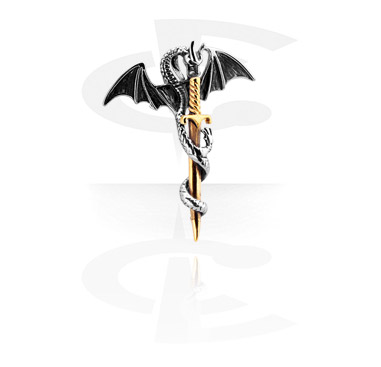 Pendant z Dragon i Sword
