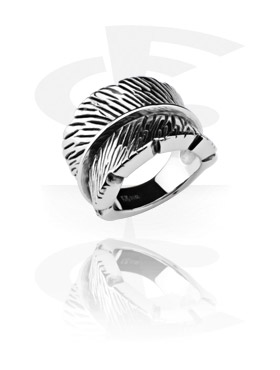 Rings, Feather Ring, Surgical Steel 316L