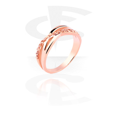 Rings, Ring, Rosegold Plated Steel