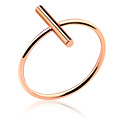 Pierścionki i obrączki, Ring, Rosegold Plated Surgical Steel 316L