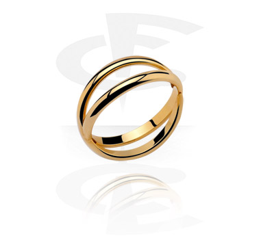 Rings, Midi Ring, Gold Plated Steel