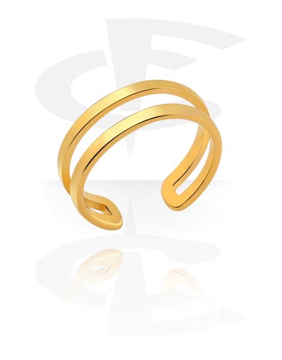 Fingerringe, Midi Ring, Vergoldeter Chirurgenstahl 316L