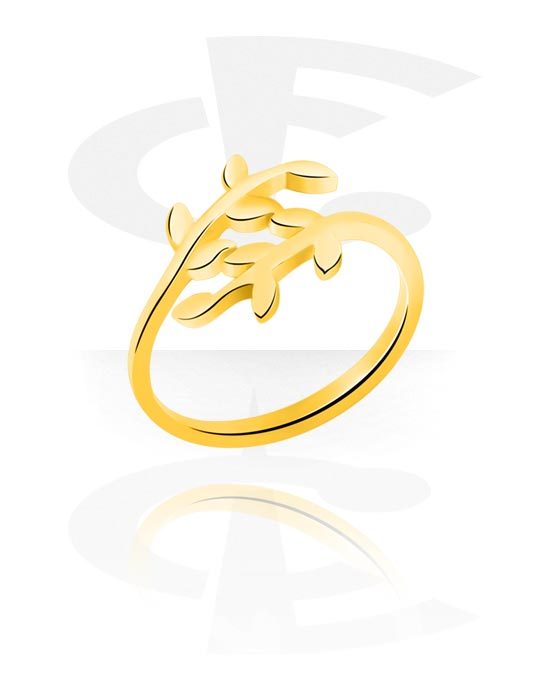Ringen, Midi-ring, Verguld chirurgisch staal 316L