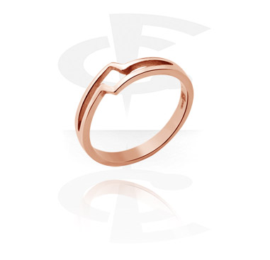 Prsteny, Midi Ring, Rose Gold Plated Steel