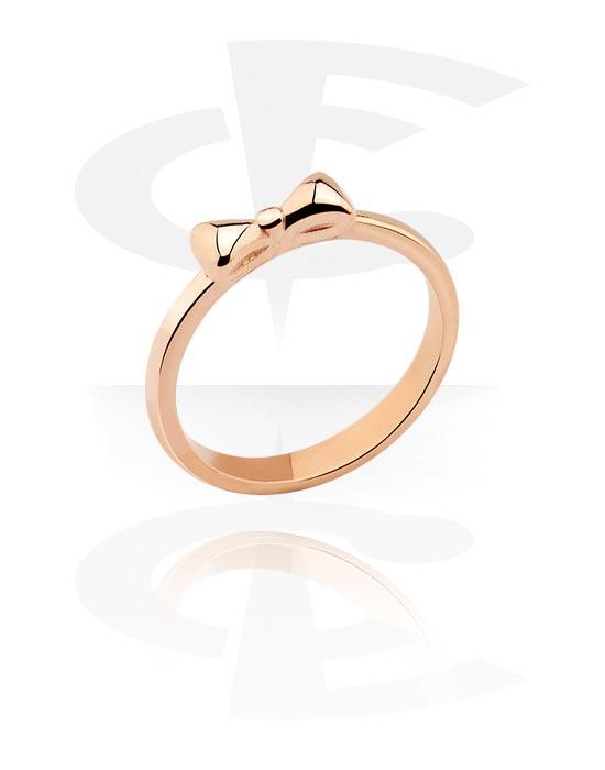 Fingerringe, Midi Ring, Rosé-Vergoldeter Chirurgenstahl 316L