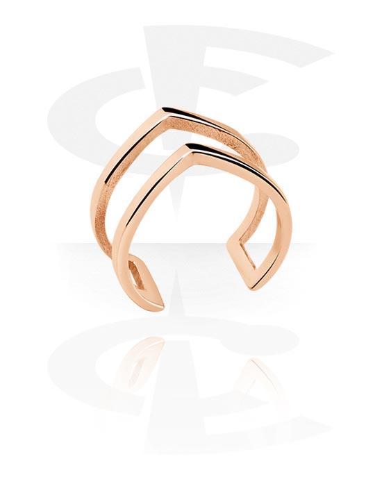 Ringen, Midi-ring, Met roségoud verguld chirurgisch staal
