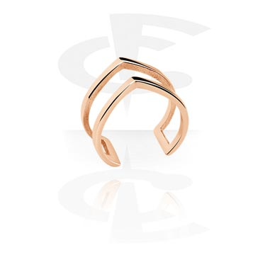 Pierścionki i obrączki, Midi Ring, Rose Gold Plated Steel