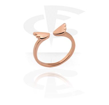 Pierścionki i obrączki, Midi Ring, Rose Gold Plated Steel