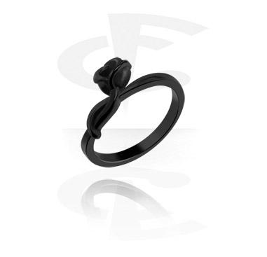 Black Midi Ring