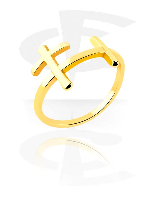 Ringer, Midi Ring, Gold Plated Surgical Steel 316L