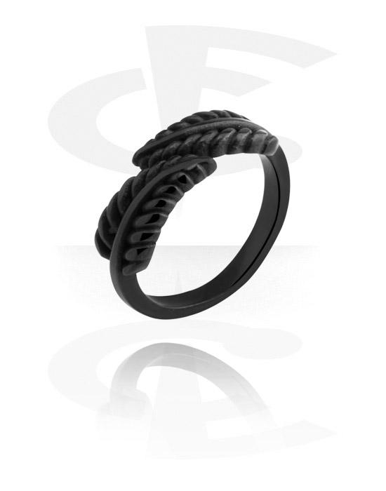 Prsteny, Midi Ring, Černá chirurgická ocel 316L