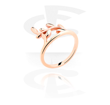 Rings, Midi Ring, Rosegold Plated Steel