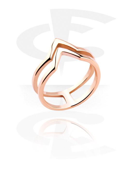 Pierścionki i obrączki, Midi Ring, Stal chirurgiczna powlekana różowym złotem 316L