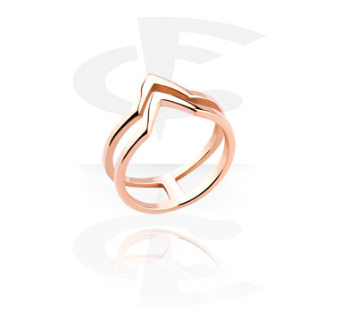 Rings, Midi Ring, Rosegold-Plated Steel