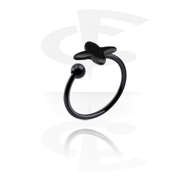 Rings, Ring with star design, Surgical Steel 316L