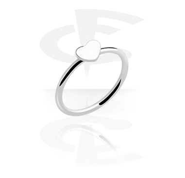 Rings, Ring with Heart Design, Surgical Steel 316L