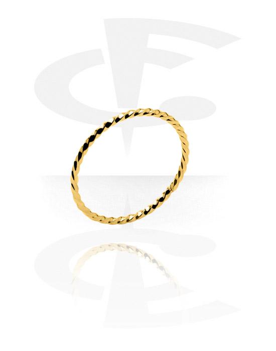 Fingerringe, Ring, Vergoldeter Chirurgenstahl 316L