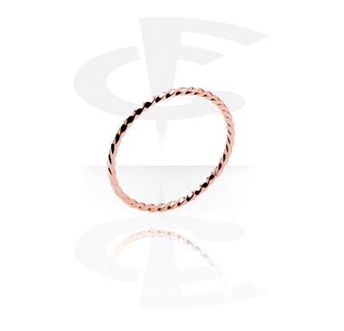 Ringar, Ring, Kirurgiskt stål 316L, Roséguld