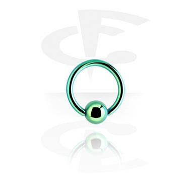 Piercing Rings, Anodized Ball Closure Ring , Surgical Steel 316L