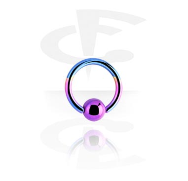 Анодированное кольцо с застежкой - шариком