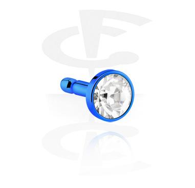 Anodised Steel Jeweled Disk de Bioflex Internal Labrets
