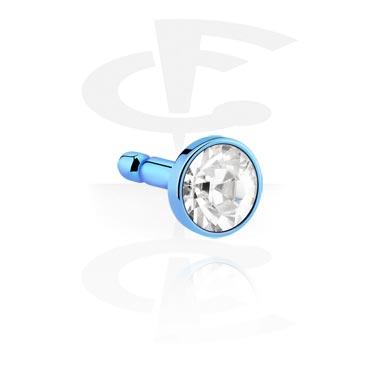 Eloxierte Kristallscheibe für Bioflex Labrets