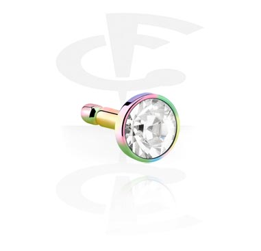 Anodised Steel Jeweled Disk voor Bioflex Internal Labrets