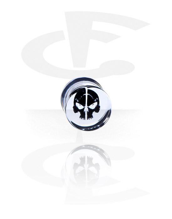 Tunnelit & plugit, Plug kanssa Skull Design, Akryyli